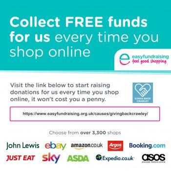 easyfundraising Giving Back Crawley